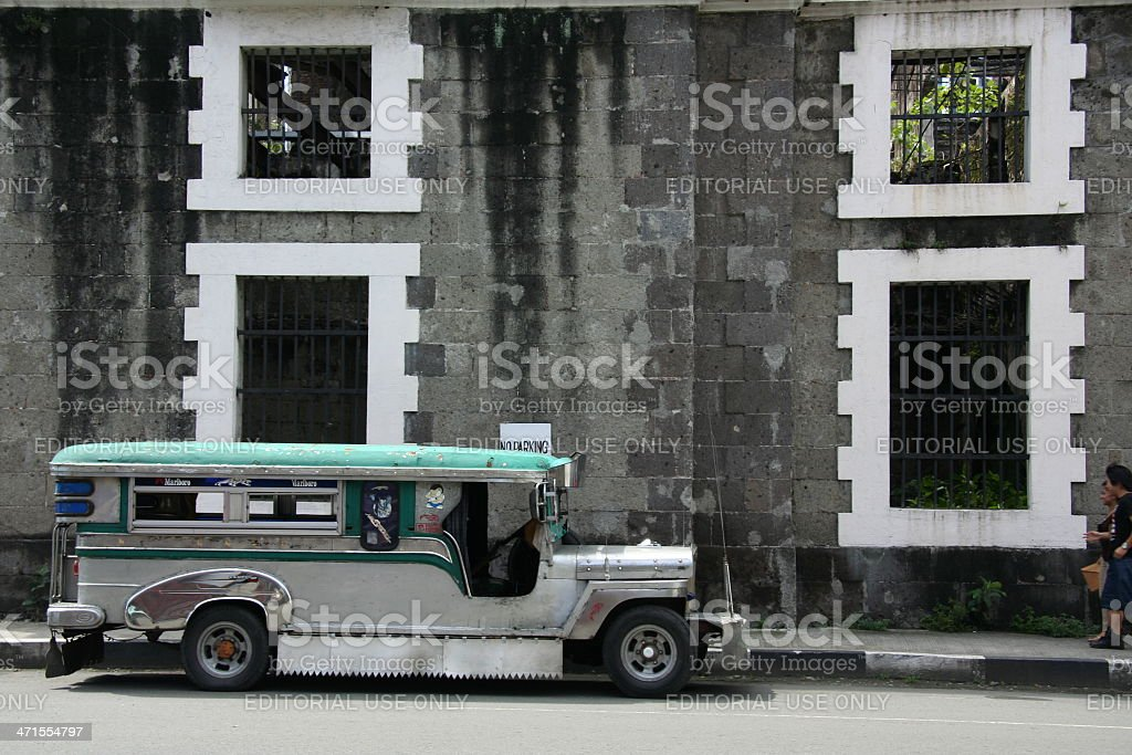 vintage jeepney intramuros manila philippines royalty-free stock photo