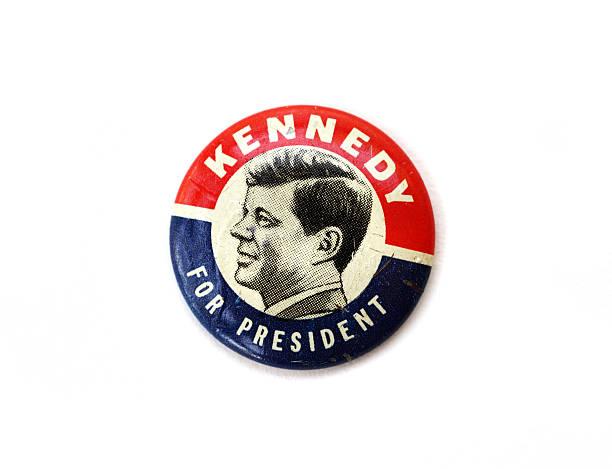 винтажный john f. kennedy политические кампании» - выборы президента стоковые фото и изображения