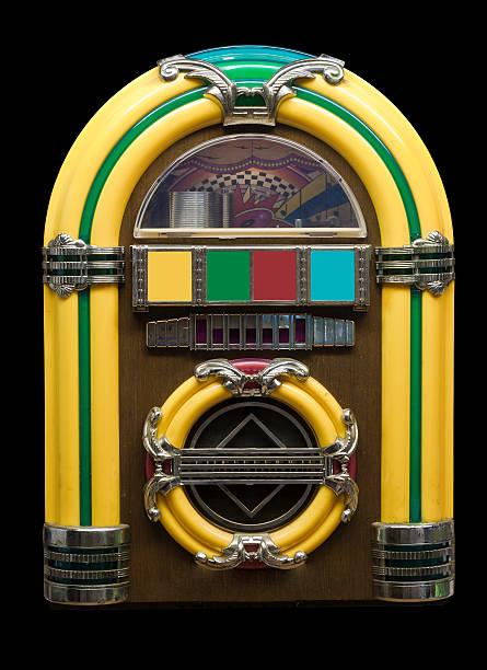 vintage jukebox stock photo