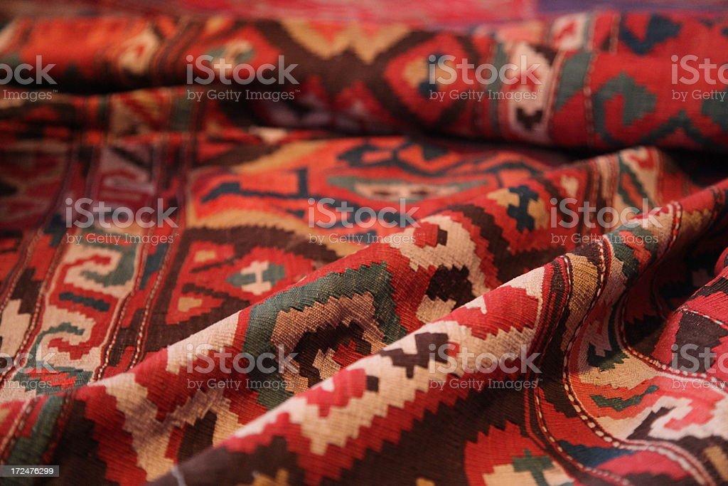 Vintage Karabakh carpet stock photo