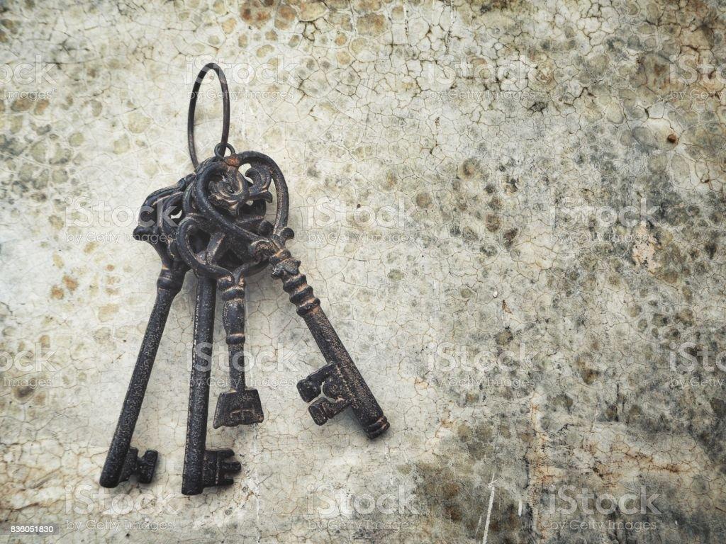 Vintage anahtar stok fotoğrafı