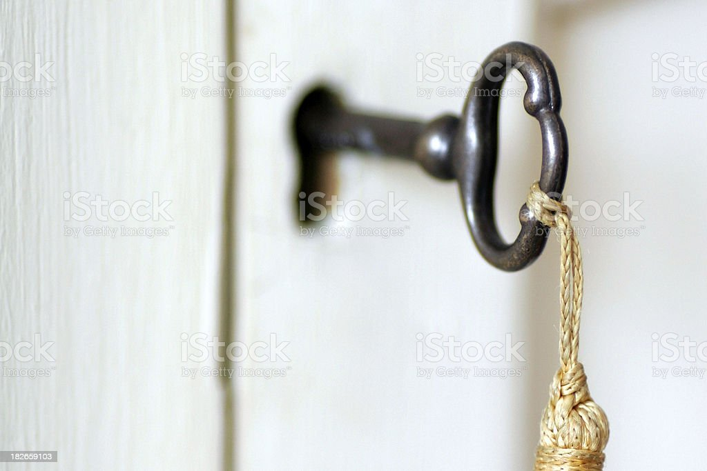 Vintage Key & Tassel royalty-free stock photo
