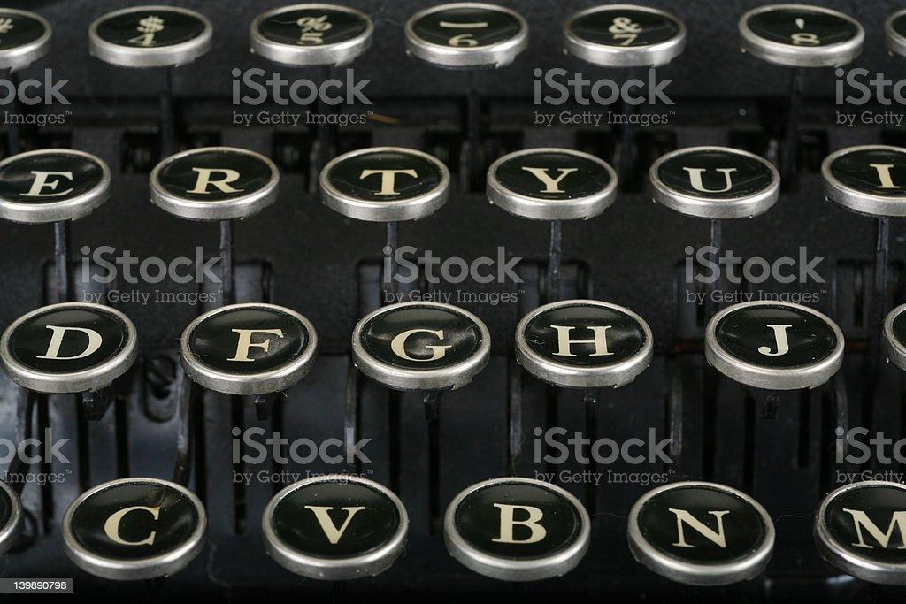Vintage Keyboard 3 royalty-free stock photo