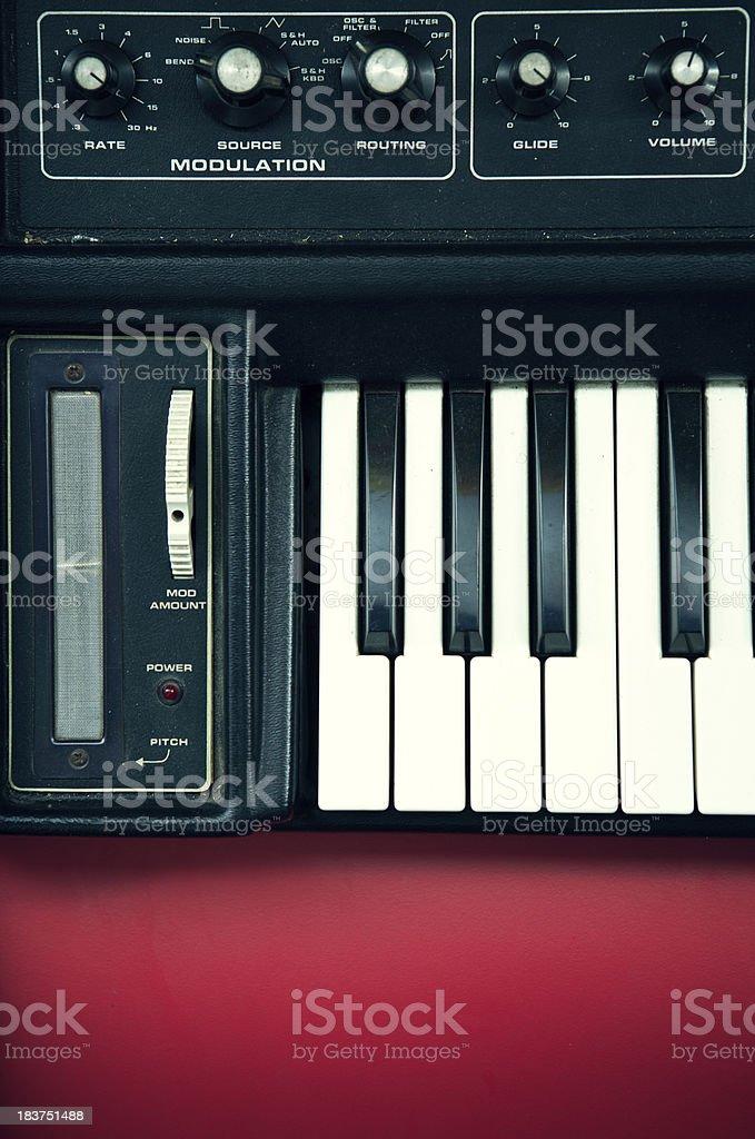 Vintage Keyboard Synthesizer stock photo
