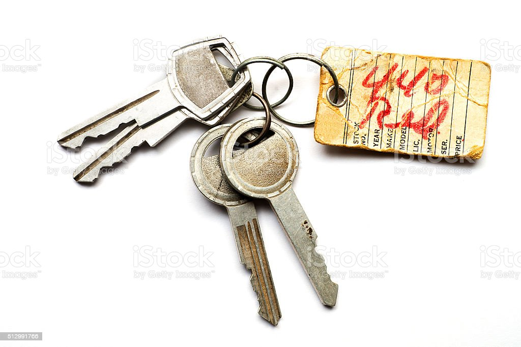 Vintage Keys on White stock photo
