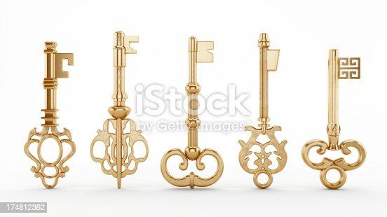 istock Vintage keys 174812362