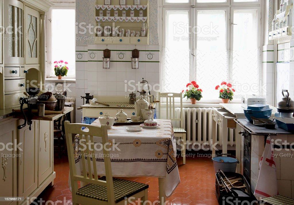 Vintage kitchen stock photo