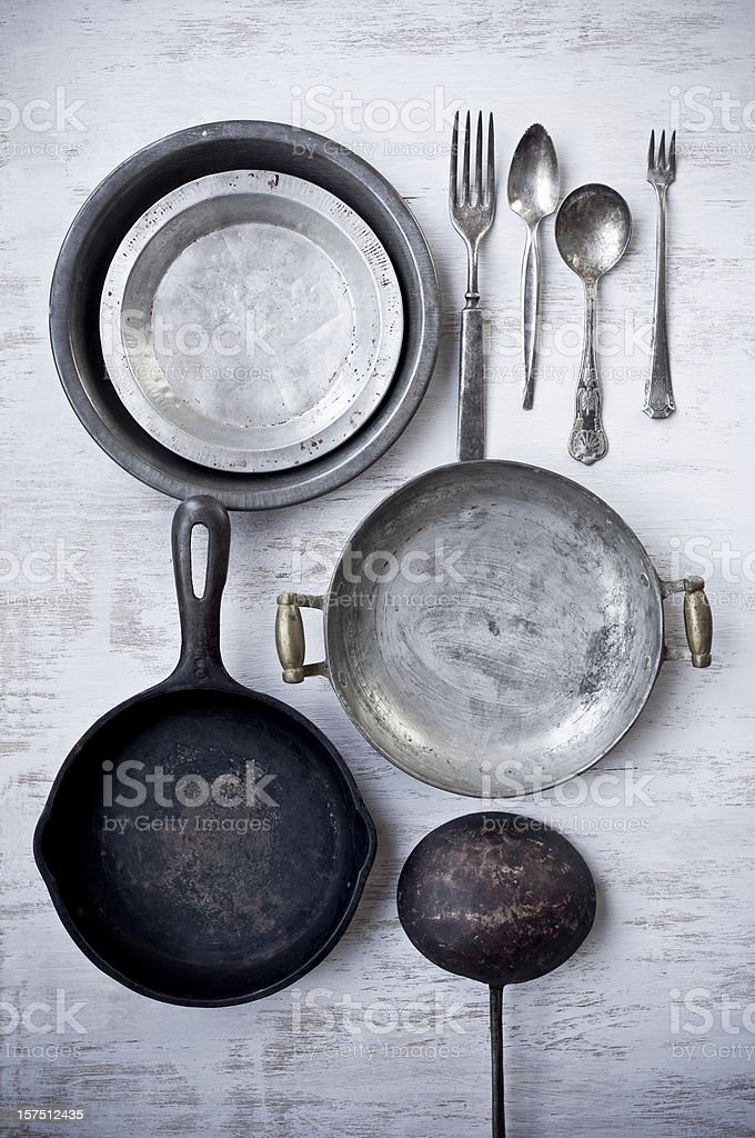 Vintage Kitchenwares stock photo