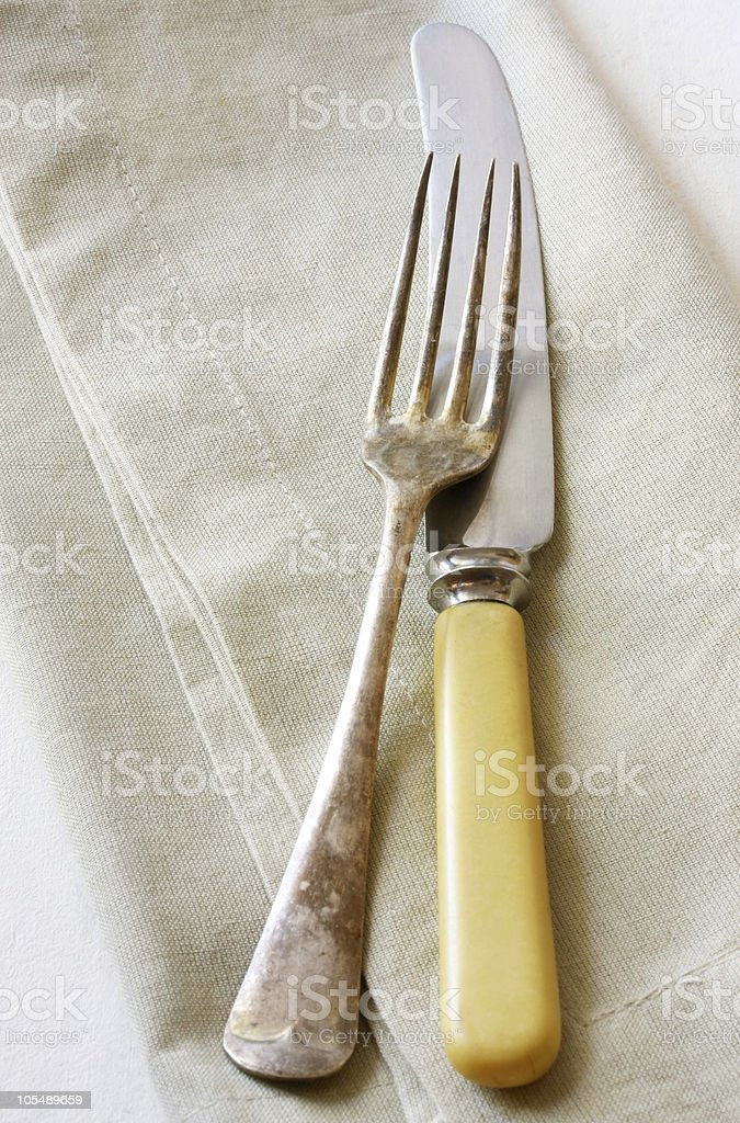 Vintage Knife and Fork royalty-free stock photo