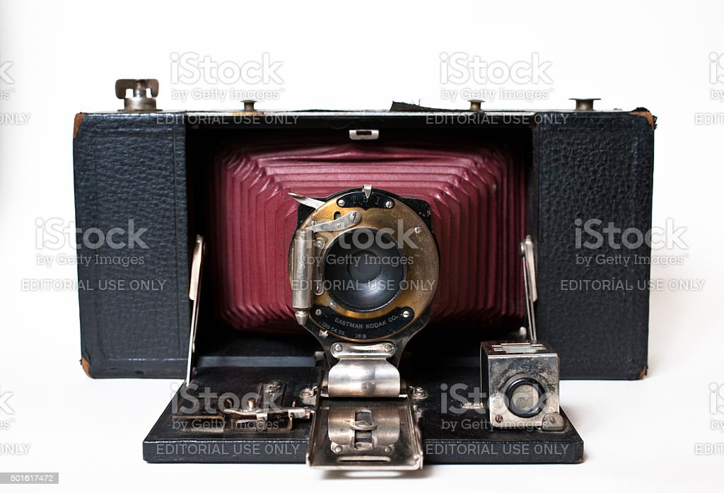 Vintage Kodak No. 3A Folding Brownie Camera stock photo