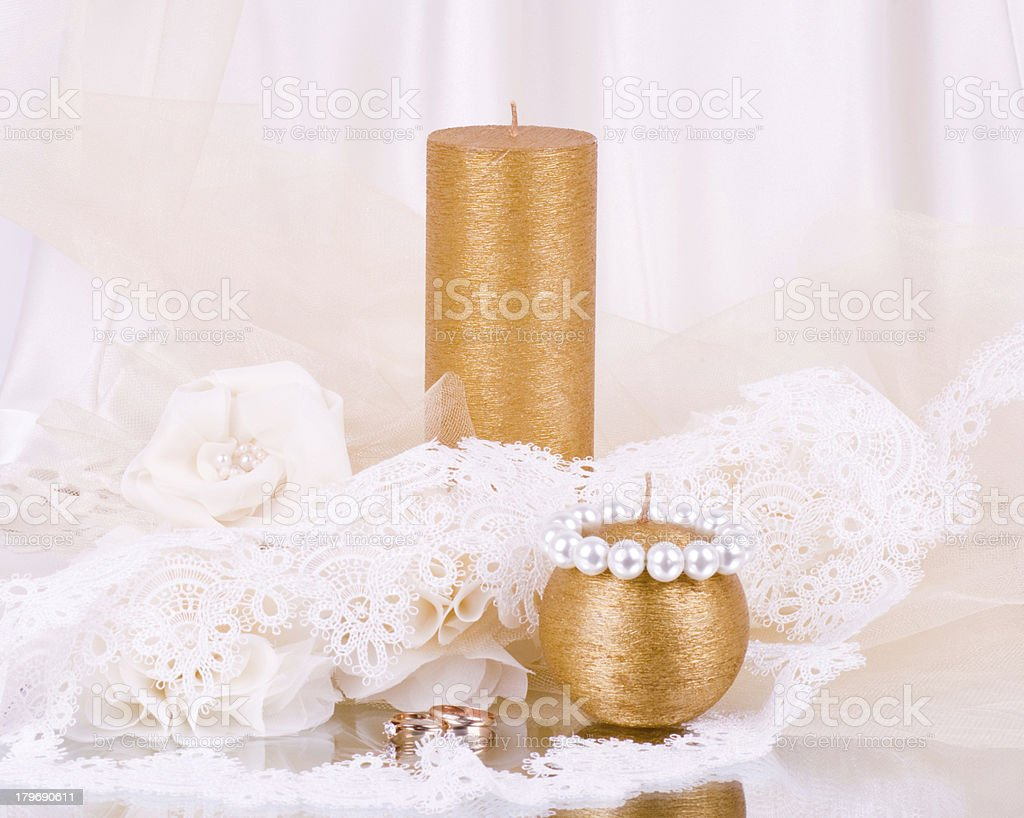 Vintage lace with flowers. royalty-free stock photo