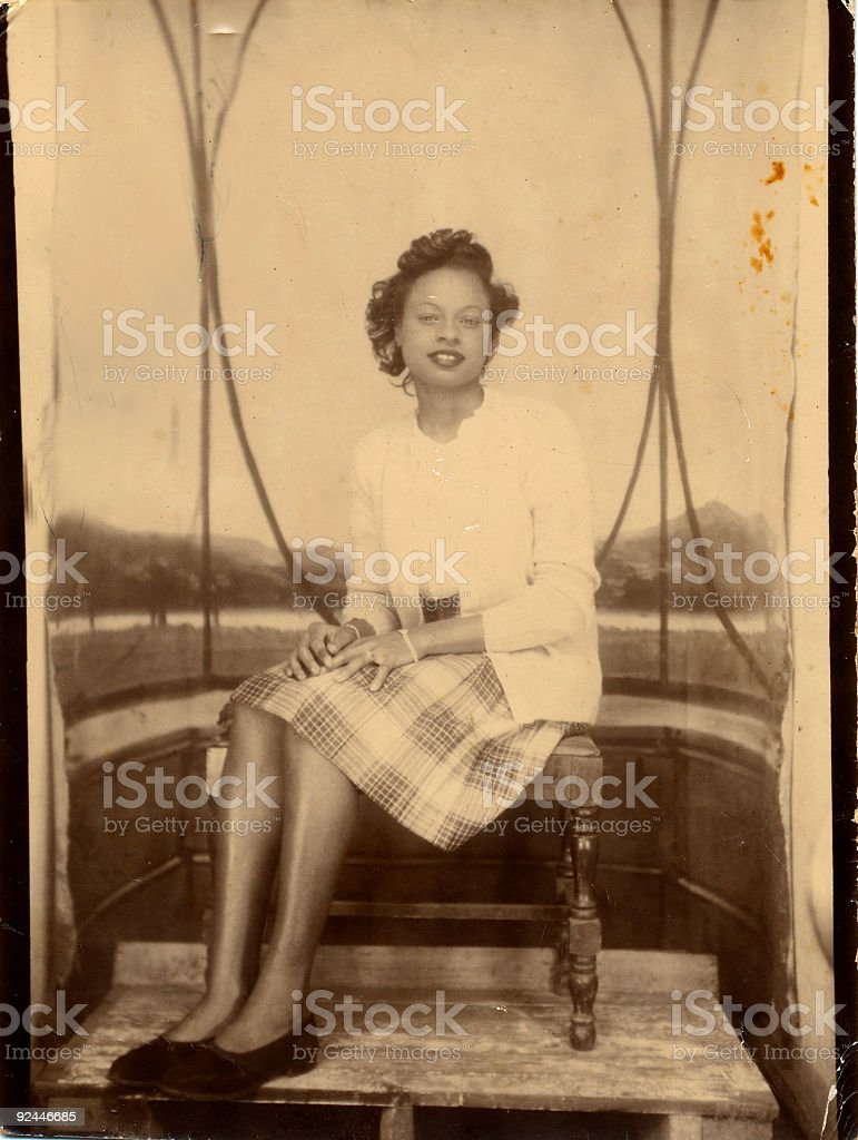 vintage lady royalty-free stock photo