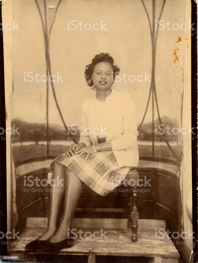 vintage lady stock photo