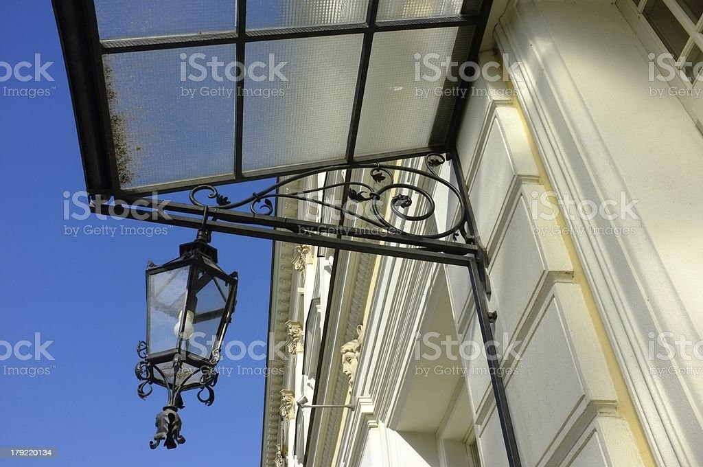 vintage lamp on the wall royalty-free stock photo