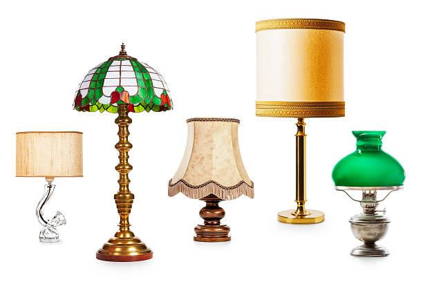 des lampes vintage  - lampe électrique photos et images de collection