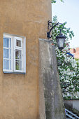 Vintage lanterns on the streets of Warsaw