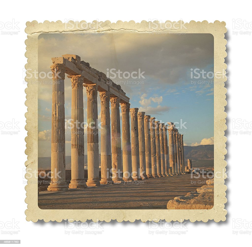 Vintage Laodicea Ancient City Photo (Clipping Path) royalty-free stock photo