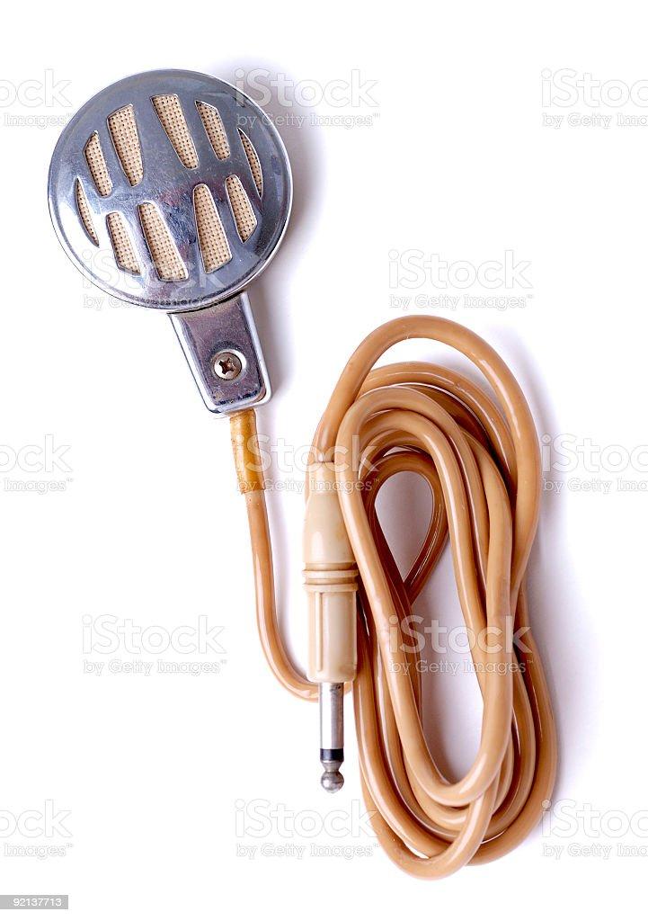 Vintage microfone de lapela - foto de acervo