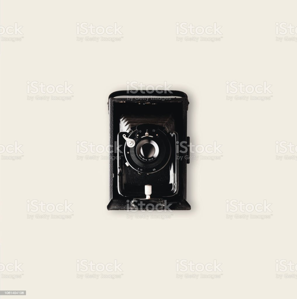 Vintage Large Format Camera stock photo