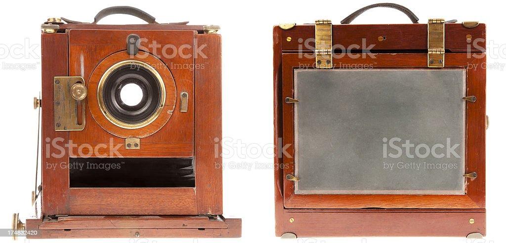 Vintage largeformat camera stock photo