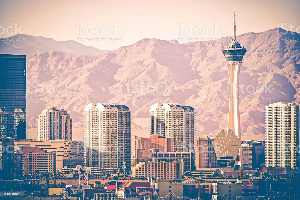 Vintage Las Vegas Skyline stock photo