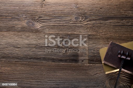 istock Vintage Law concept top view 649749984