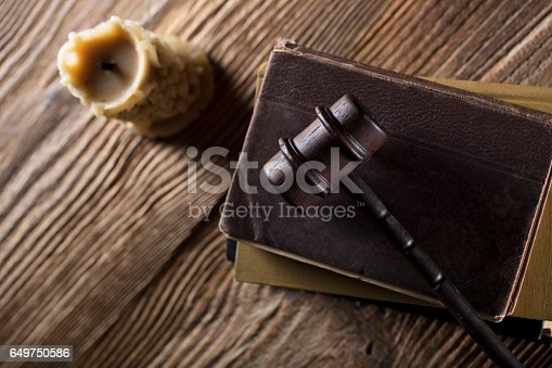 istock Vintage Law concept top view 649750586