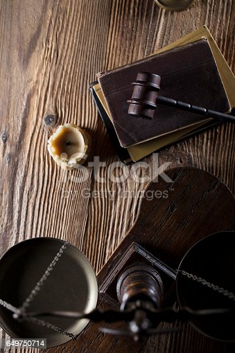 istock Vintage Law concept top view 649750714