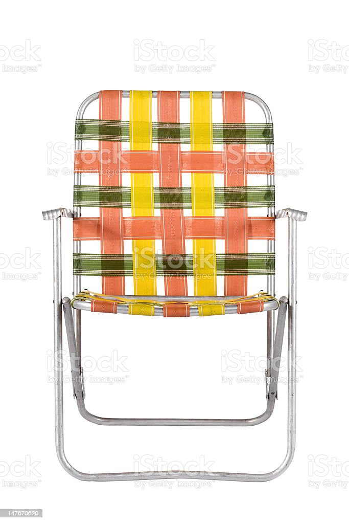 Vintage Lawn Chair Head On stock photo