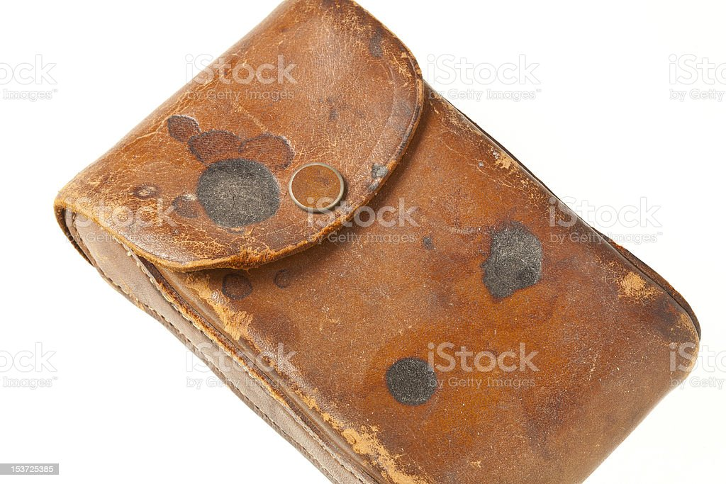 Vintage Leather Bag stock photo