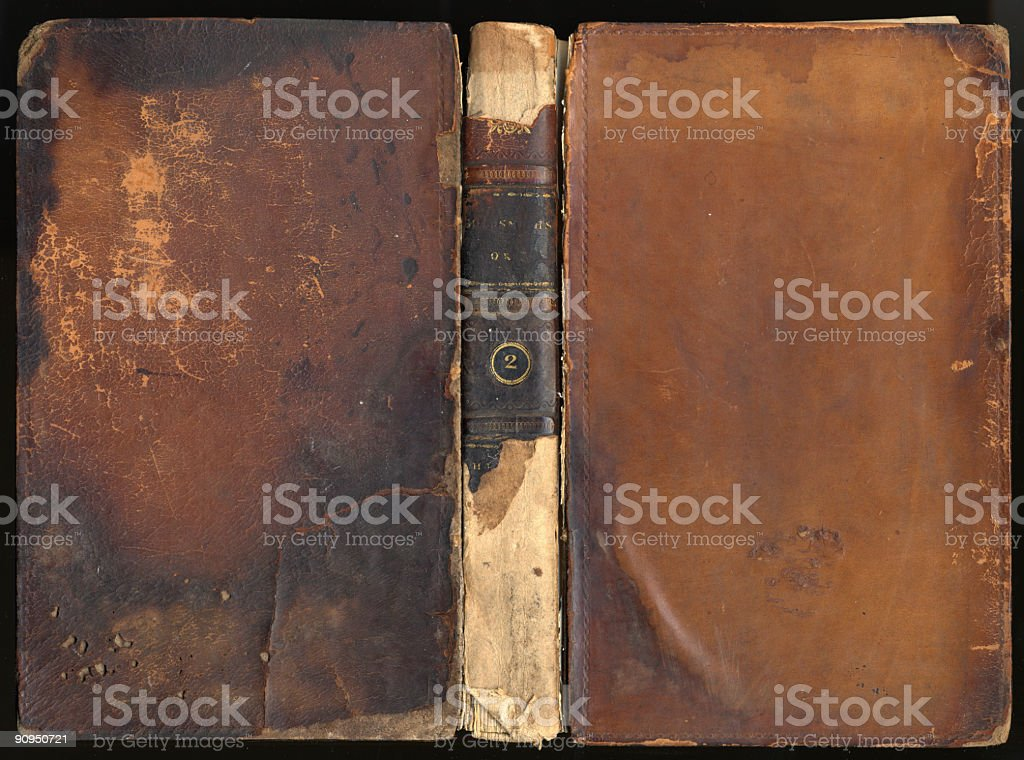 VIntage Leather Book Cover XXXL royalty-free stock photo