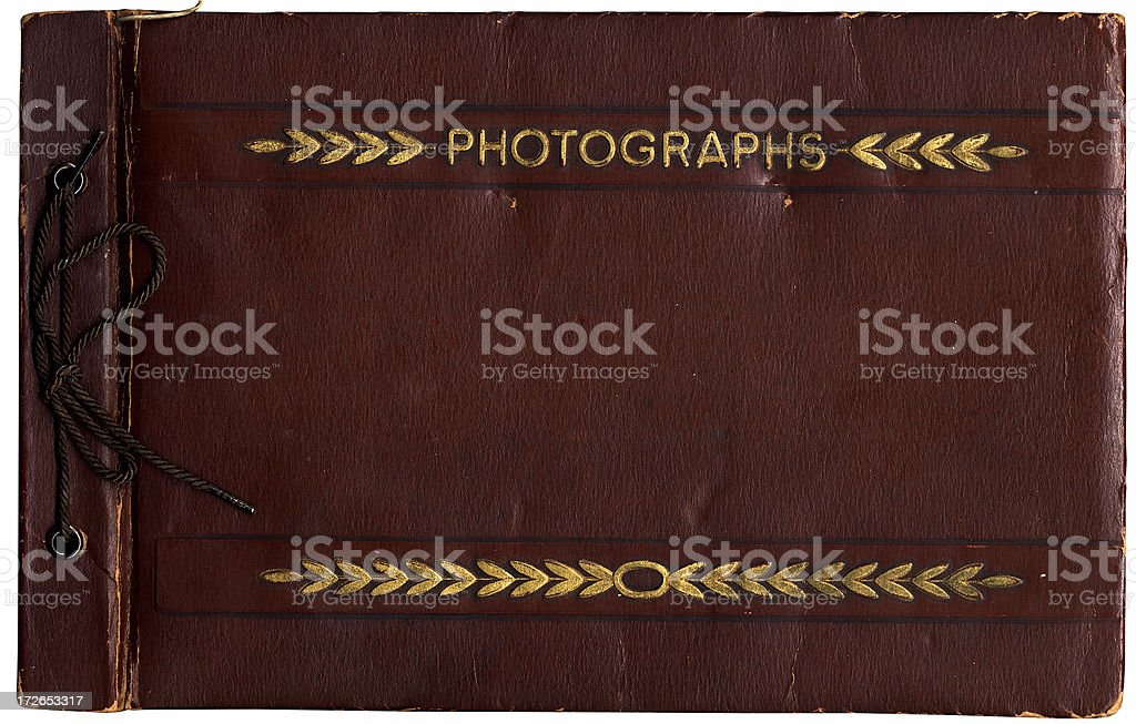 vintage leather photograph album royalty-free stock photo