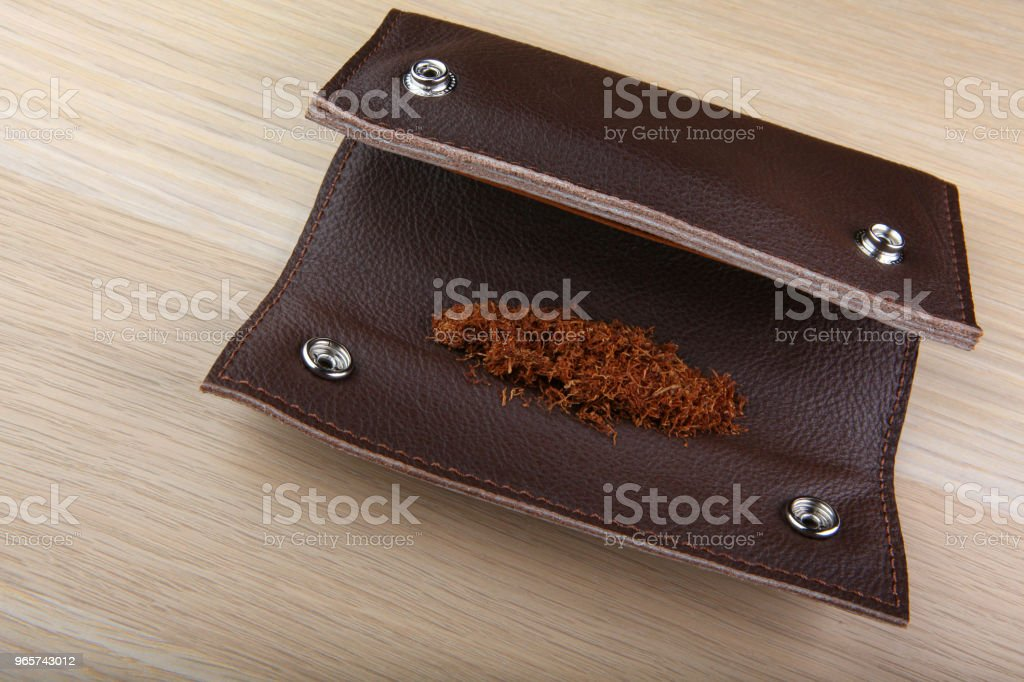 Vintage Leather tobacco bag - Royalty-free Art Stock Photo