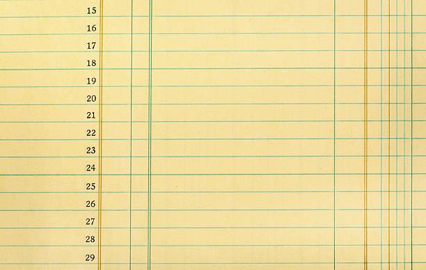 Vintage papel del libro mayor - foto de stock