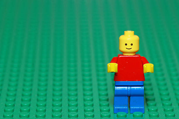 Vintage Lego character from the 80s stock photo