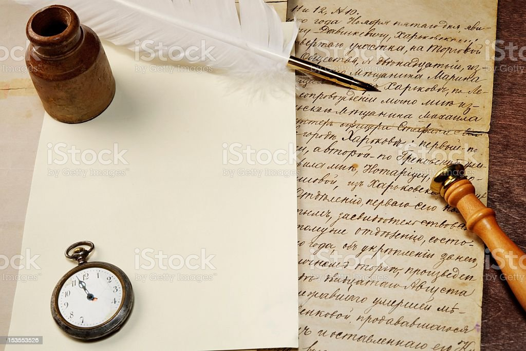 Vintage letter concept stock photo