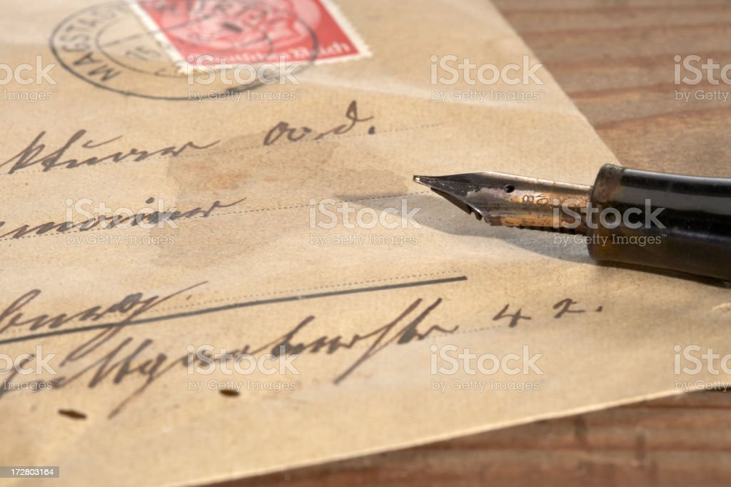 Vintage letter royalty-free stock photo