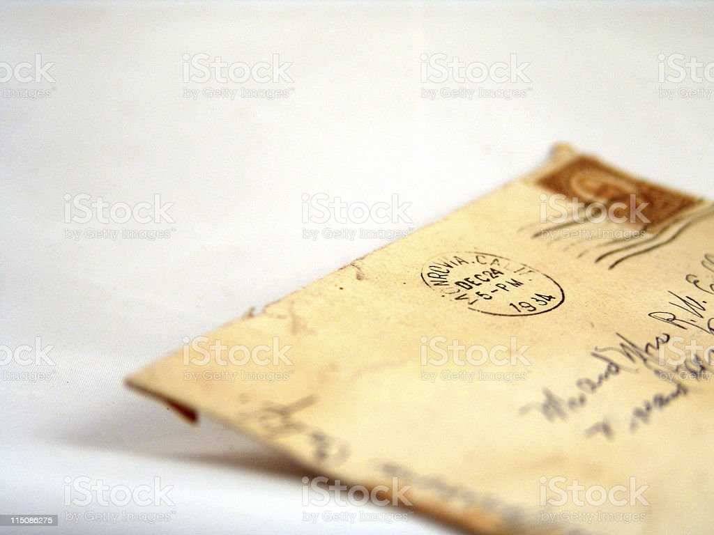 vintage letter postage royalty-free stock photo