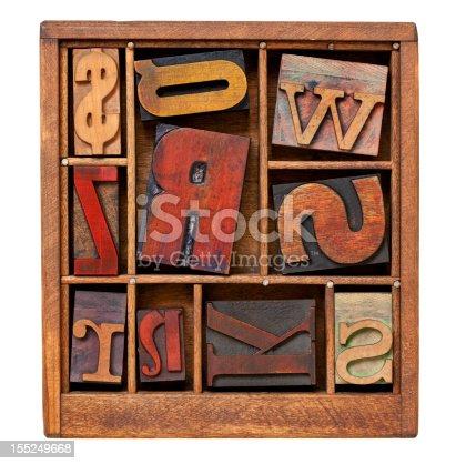 istock vintage letterpress printing blocks 155249668