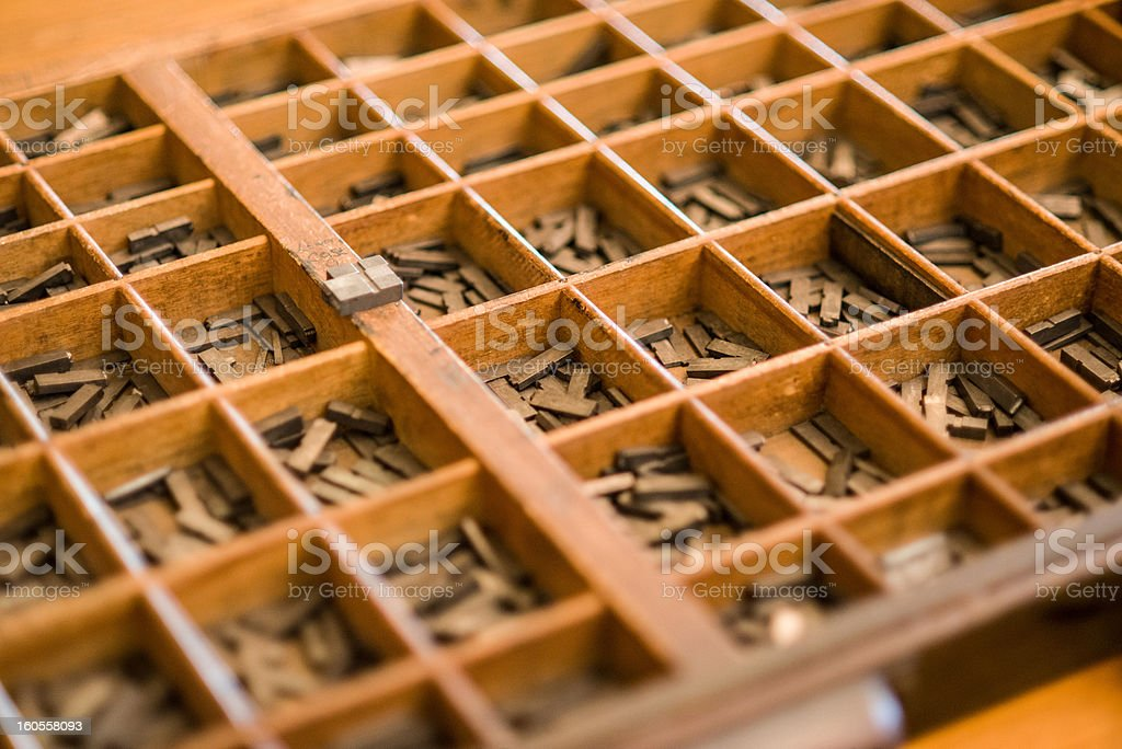 Vintage Letters Stored in a Box royalty-free stock photo
