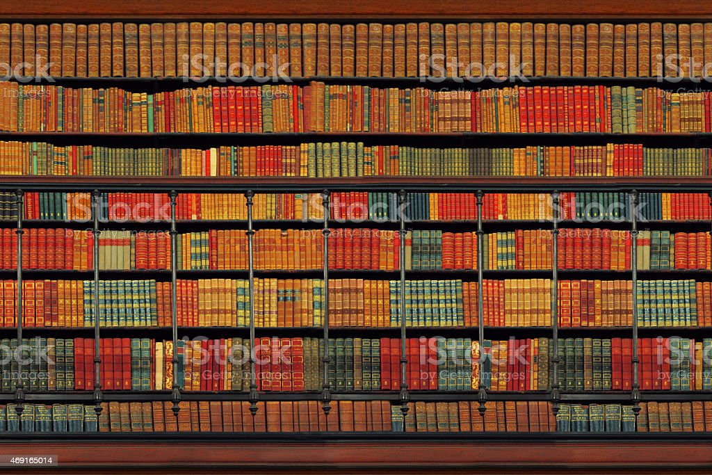 Vintage Library stock photo
