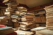 istock Vintage library still life 1202731193