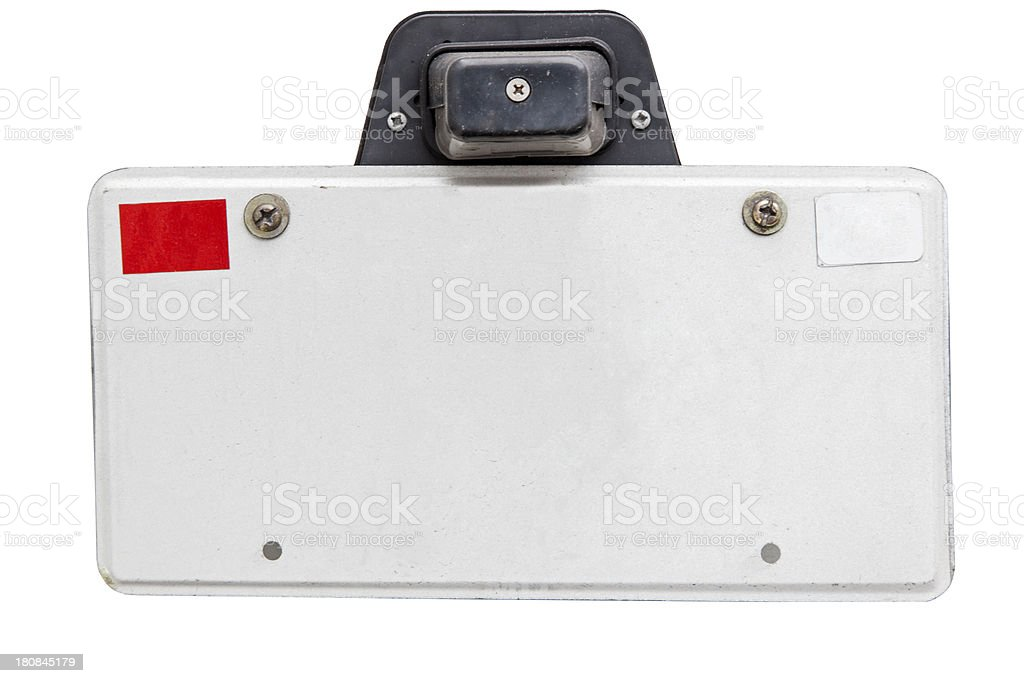 Vintage License Plate royalty-free stock photo