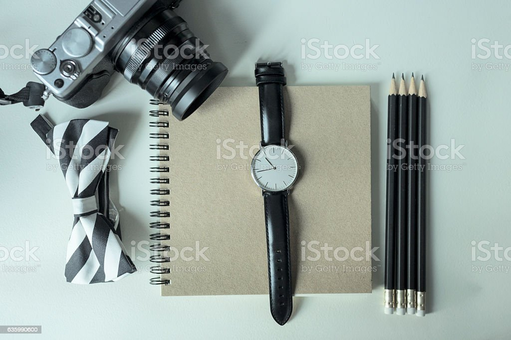Vintage life of today teenager, hobby stock photo