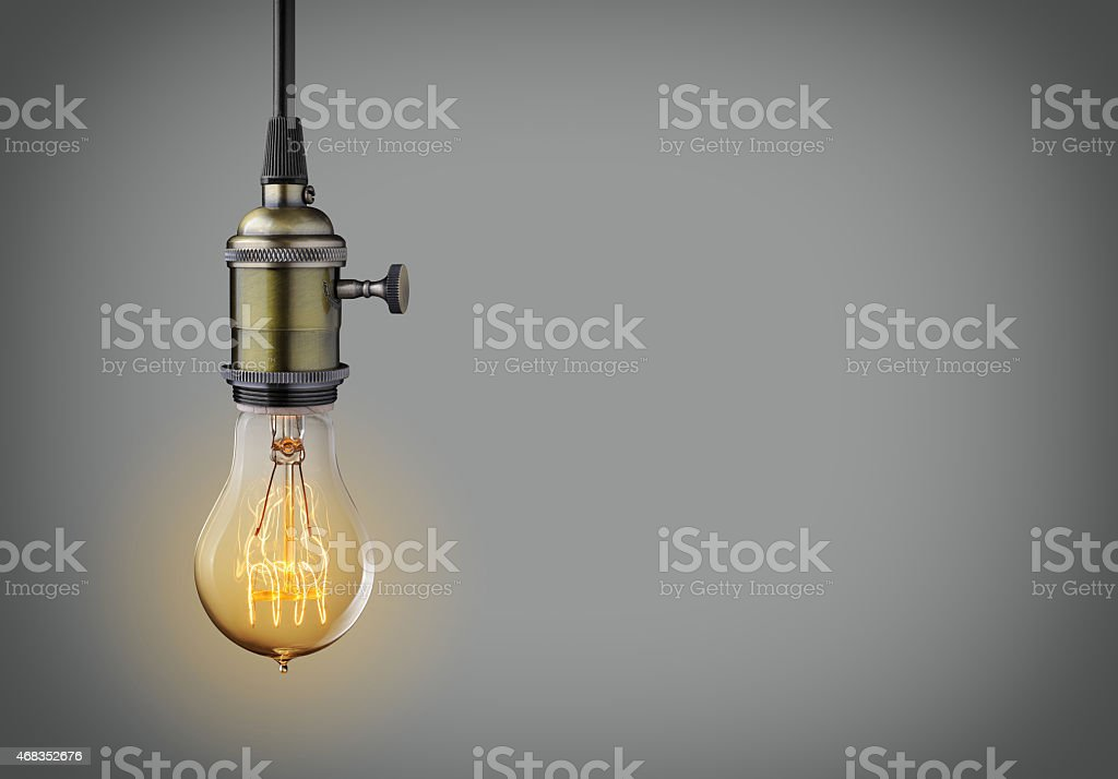 Vintage light bulb royalty-free stock photo