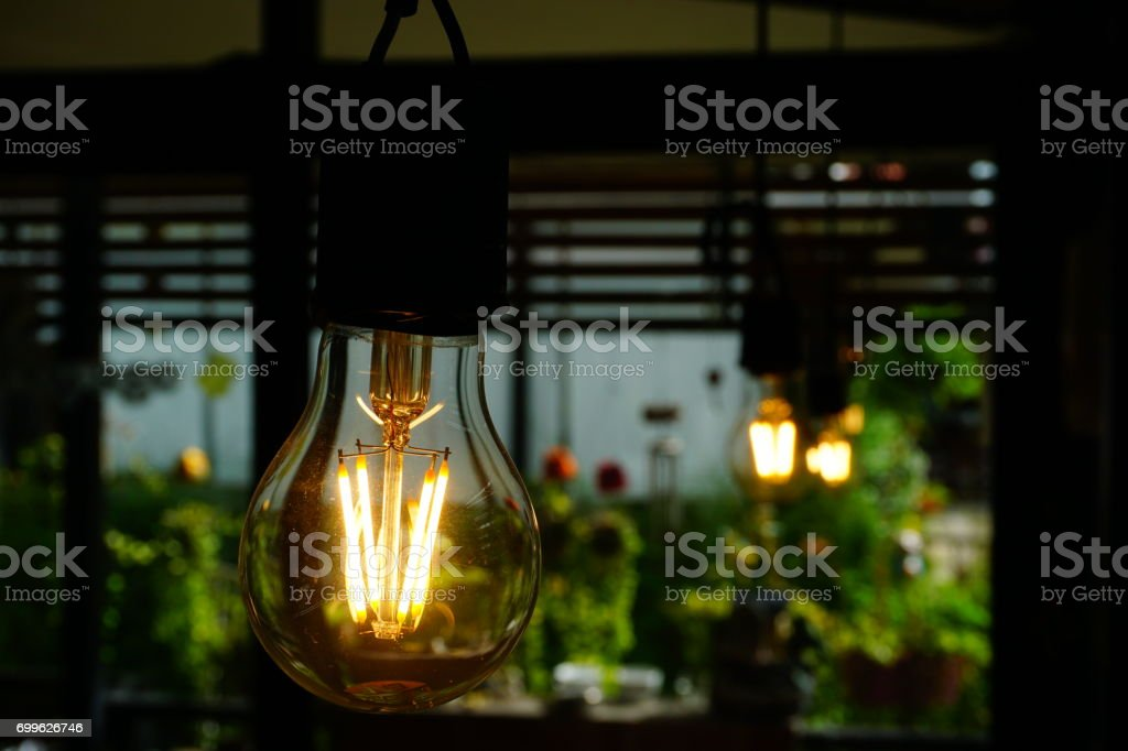 Vintage lighting decoration stock photo