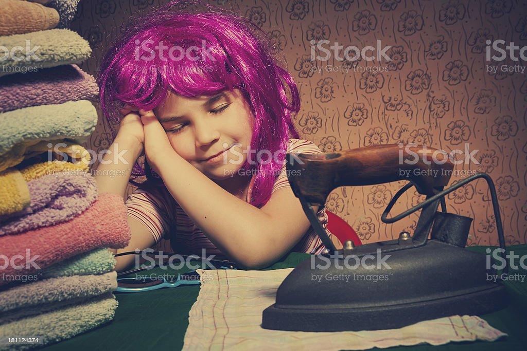 Vintage little girl royalty-free stock photo