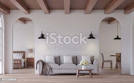 istock Vintage living 3d rendering image 870258656