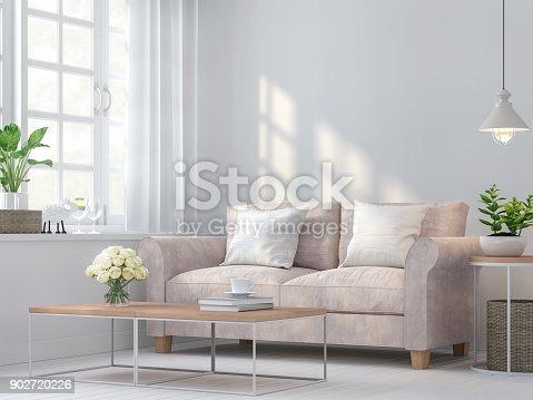 istock Vintage living room 3d rendering image 902720226