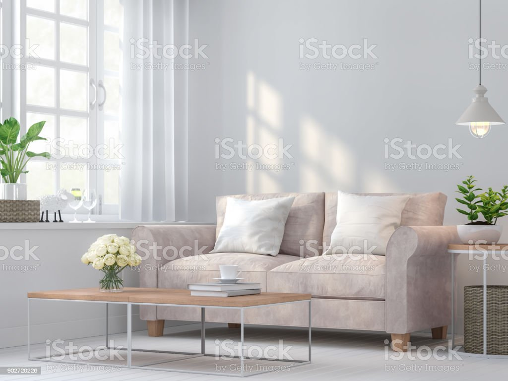 Vintage living room 3d rendering image stock photo